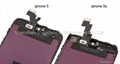LCD Digitizer Assembly Replacement - Black For iPhone 5S