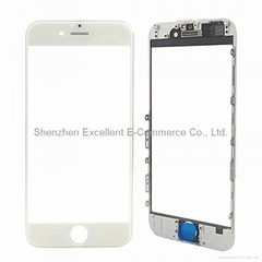 Front Glass Lens with Frame Bezel for iPhone 6
