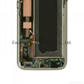 LCD Assembly with frame for Samsung S7 gold Original