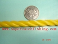 YELLOW/TWISTED POLY ROPE