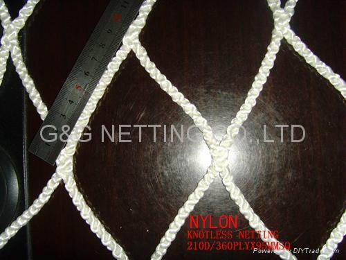 RASCHEL KNOTLESS  FISHING NETTING 2