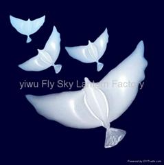 Yiwu Wedding biodegradable white Dove Helium Balloons for decoration