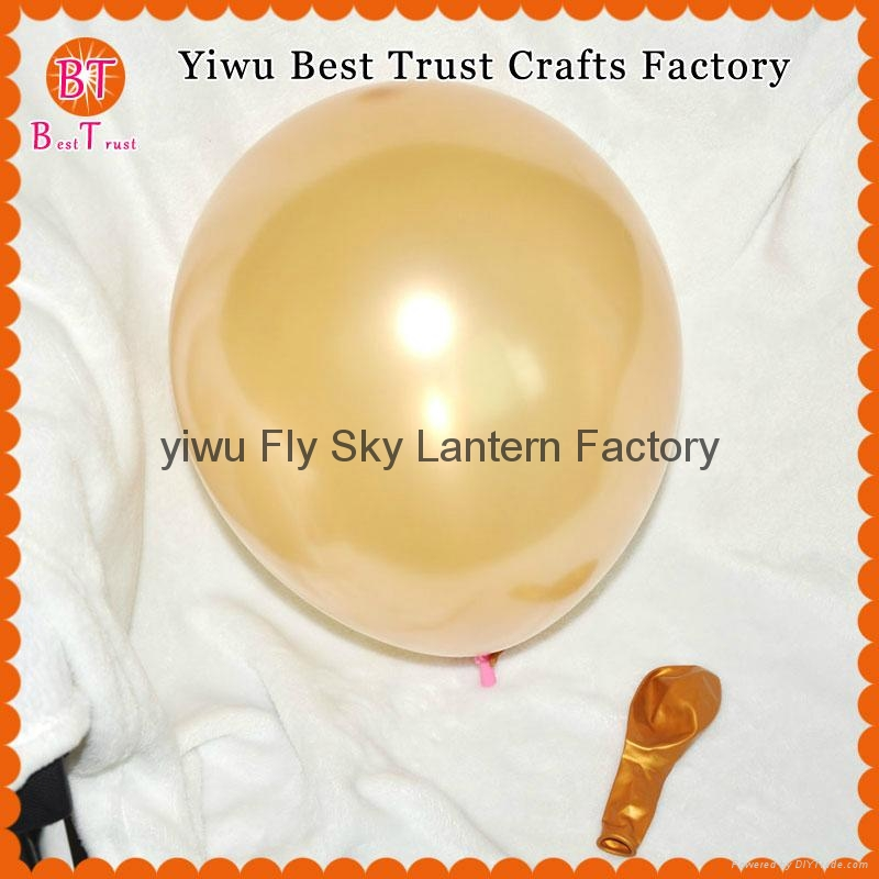 Wholesale 3.2 g 12 inch round pearl latex balloons wedding room decoration 1