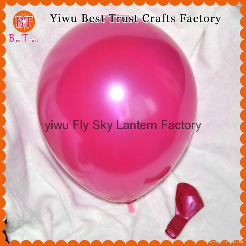 Wholesale 3.2 g 12 inch round pearl latex balloons wedding room decoration 2