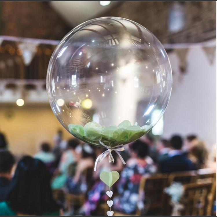Transparent round balloon wedding Party  decorative clear  ballons 1