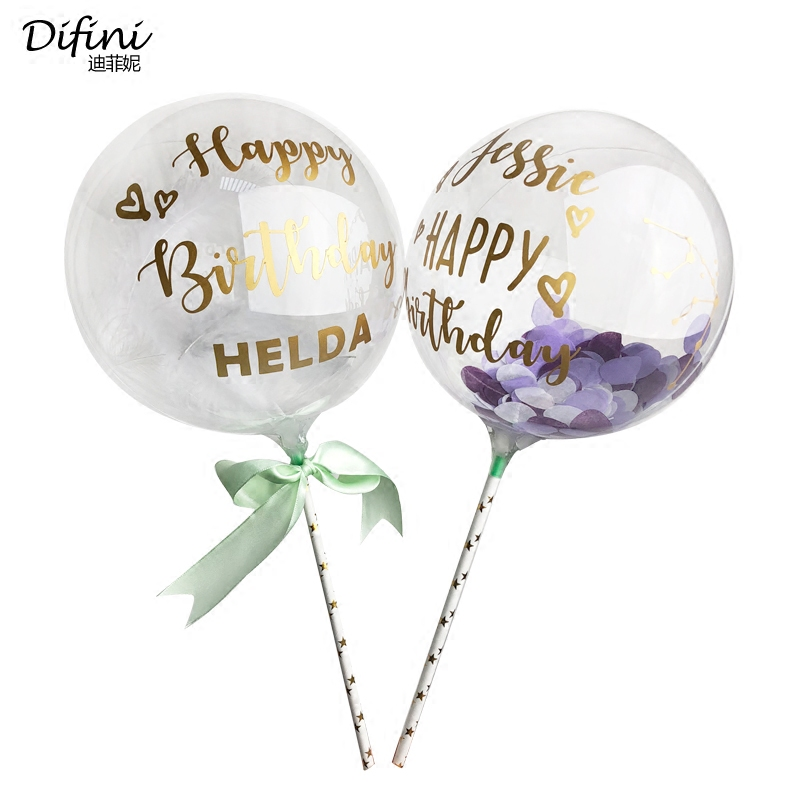 Transparent Bubble Balloons  Ball For Birthday Party  Kids Cake balloons 1