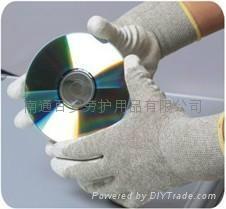 碳纖維PU專業防靜電手套