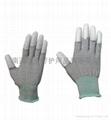 碳纤维PU专业防静电手套