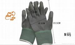 灰色塗指手套