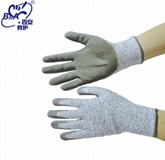 五级防切割PU涂层手套