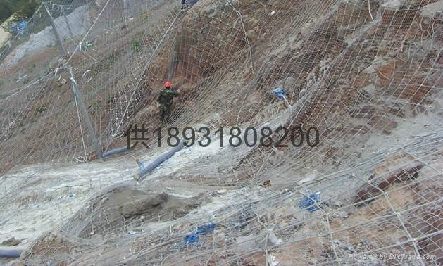 7x7主動型鋼絲繩邊坡防護鋼網 2
