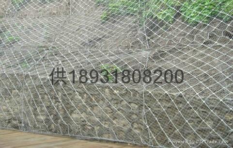 7x7主動型鋼絲繩邊坡防護鋼網 3