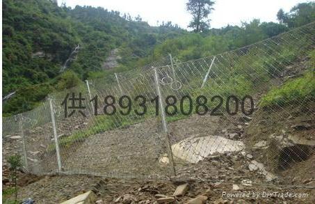 7x7主動型鋼絲繩邊坡防護鋼網 4