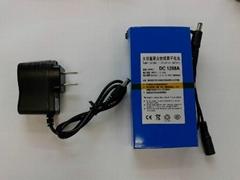 大容量聚合物可充电锂电池 12V 9800mAh 移动电源后备电源DC 1298A