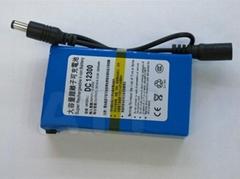 ABENIC 大容量聚合物可充电锂电池 12V 3000mAh 移动电源后备电源DC-12300