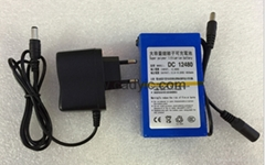 ABENIC大容量聚合物可充电锂电池 12V 4800mAh 移动电源后备电源DC-12480
