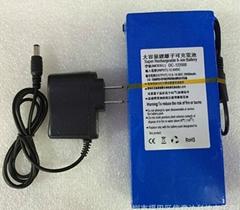 ABENIC大容量聚合物可充電鋰電池 12V 20000mAh 移動電源後備電源DC-122000