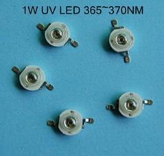 1W大功率紫光燈(365nm~370nm)