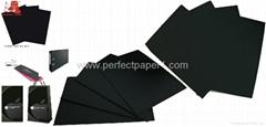 China 4.5mm/5mm Black Paperboard/black cardboard paper/black paper board