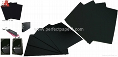 Laminated 1mm/1.5mm black paper board/black paperboard for making photo album