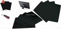 Stiff black paper/board/cardpaper/laminated cardboard 190gsm 200gsm 210gsm 220gs