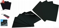 Embossed black cardboard paper /paperboard/paper board/black paper card/color pa