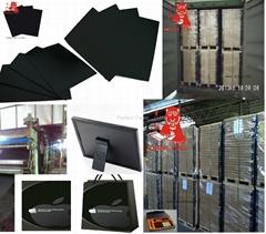 Glossy black paper card/black cardboard paper sheet/black paperboard/paper board