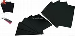 Wood pulp 300gsm 350gsm 400gsm black paper/black cardboard paper