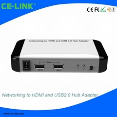 Networking to HDMI and USB 2.0 Hub Adapter