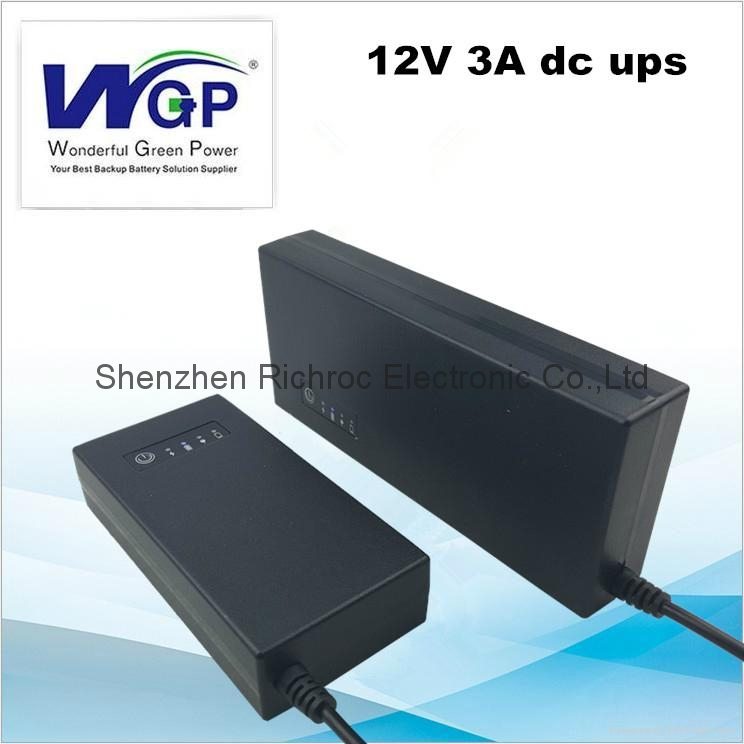 2017 new model 36W 3A mini small 12V dc ups online mini UPS battery