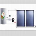 split pressurized solar thermal system/solar water heater