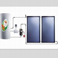 split pressurized solar thermal system/solar water heater