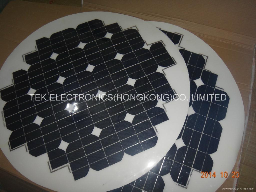 round shape flexible solar panel 63W/round flexible solar panel 1
