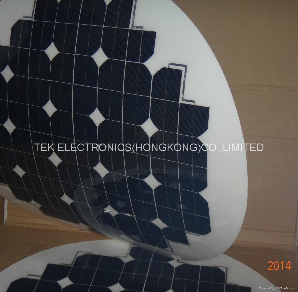 round shape flexible solar panel 63W/round flexible solar panel 2