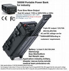 3KW Portable Power Pack/power bank