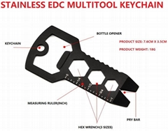 Multitool keychain/multifunction bottle opener/multifunction carabiner