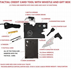 credit card tool card/multitool card/multifunction bottle opener/can opener