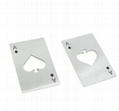 Stainless Steel Credit Card Size Casino Bottle Opener for Your Wallet