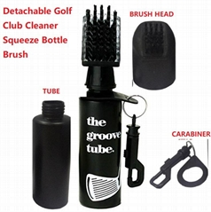 Groove Tube Golf Club Cleaner Squeeze Bottle Brush/golf club brush cleaner
