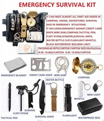EMERGENCY SURVIVAL KIT/OUTDOOR SURVIVAL