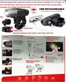 USB RECHARGEABLE BICYCLE HEADLIGHT AND REAR LIGHT/BIKE FRONT AND BACK LIGHT