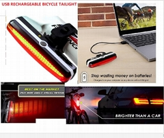 USB rechargeable bicycle taillight/bicycle rear light/bicycle,bike rear  light