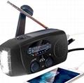 Weather Radio/NOAA Radio/Solar Hand crank radio/Emergency Radio/ power bank