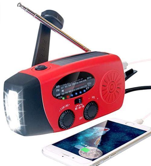 Weather Radio/NOAA Radio/Solar Hand crank radio/Emergency Radio/ power bank 2