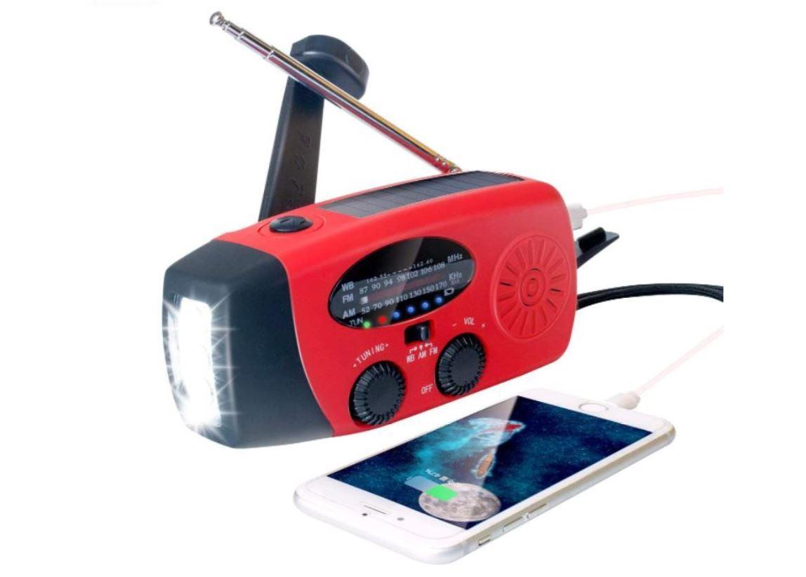 Flashlight Solar dynamo radio/FM AM Radio/NOAA Radio/Weather Radio/FM AM 2