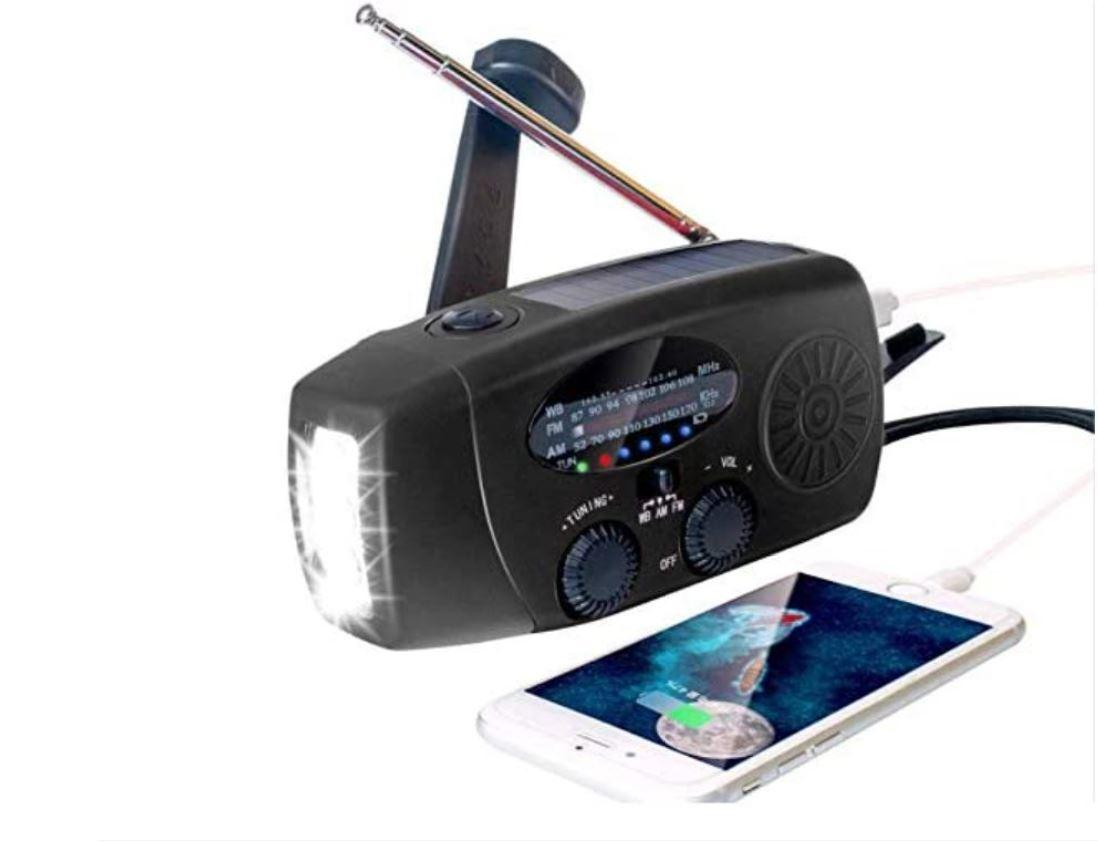 Flashlight Solar dynamo radio/FM AM Radio/NOAA Radio/Weather Radio/FM AM 1