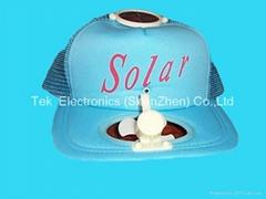Solar cooling cap