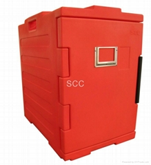 Front-loading food pan carrier