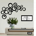 Creative circle mirror 3D stereo wall sticker factory wholesale
