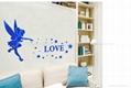 3D亚克力小天使立体镜面卧室客厅电视墙卡通动漫墙贴装饰 4